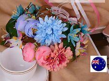 Women Flower Wedding Bride Tiara Prom Crown hair headband Garland PROP Ribbon