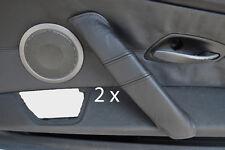 point noir pour BMW Z4 E85 03-11 2 X poignée cuir porte