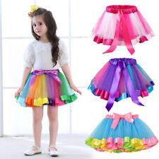 Kids Girls Colorful Princess Tulle Tutu Skirts Children Ballet Dance Party Dress