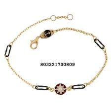Bracciale oro Giallo 18 kt. rosa dei venti uomo donna smalto gioielli 18/20 cm.