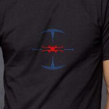 Star Wars Darth Vader Tie Fighter Targeting Computer HUD Tshirt Schwarz Neu M-XXL