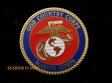 GOD COUNTRY CORPS US MARINE CORPS XL PIN JESUS MCAS MCB USS SEMPER FI USMC WOW