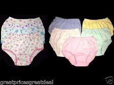 4pk Girl's Underwear 100% Cotton Colors Designs Infant Toddler Preteen Size 1-12
