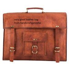 Genuine hand crafted Vintage Leather Messenger Bag Shoulder Laptop Bag-Briefcase