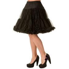 Dancing Days Rockabilly Vintage Petticoat Unterrock Tüllrock - Walkabout Schwarz