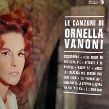 VANONI LE CANZONI DI ORNELLA  2°  LP   I^ STAMPA  1963 ITALY LABEL ARANCIO NERA