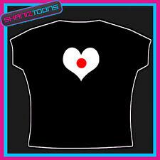 I Amore Cuore Bandiera Giappone Emblema T-Shirt Cool Design