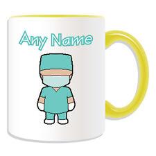Personalised Gift cirujano Taza dinero Caja Taza NHS trabajador hospitalario uniforme verde