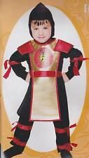 RED NINJA HERO Toddler Halloween Boys Costume 3T 4T Shogun Fancy Dress Cute NEW