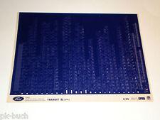 Microfich Ersatzteilkatalog Ford Transit 92 Stand 02/1993