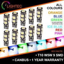 Bombillas de coche T10 9 SMD LED Canbus Libre De Errores puro Hid Xenon Luz Bombilla W5W 501 lado