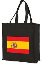 BANDIERA SPAGNOLA Cotone Shopping Bag-Scelta di Colori: NERO, PANNA, ROSA.