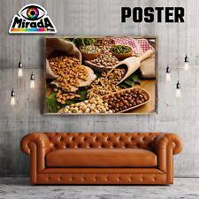 POSTER FRUTTA SECCA BIO NATURA BENESSERE CIBO CARTA FOTOGR.35x50 50x70 70x100