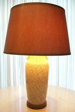 Mid Century Crackle Glaze Lamp - Original Fittings & Shade - Japan - Circa 1940