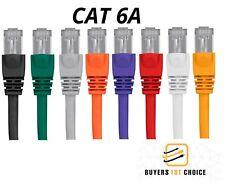 1/3/5/10/20/25/30FT CAT6A Ethernet Cable LAN Network Internet Patch Cord RJ45