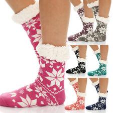 Damen Hütten Hausschuhe Hüttensocken Socken Strümpfe ABS Fell  CL 028