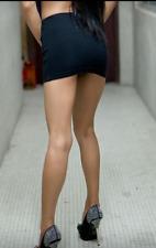 Micro Mini Skirt Black Women's Tight Stretchy Girls Mini Ladies High Waist 8-22