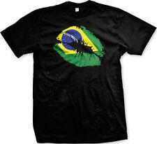 Brazil Flag Lips Republica Federativa Brasil Futbol Soccer Pride Mens T-shirt