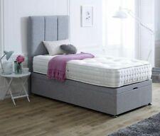 Ottoman Divan End Lift Storage Bed  With Floor Standing Headboard
