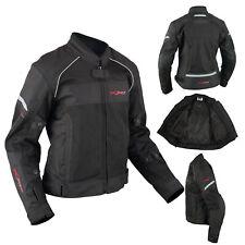 Textile Moto Blouson Femme Protections CE Respirant été Noir