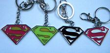 SUPERMAN DC COMICS LOGO SHIELD SOLID METAL KEYRING 3 COLOURS GIFT IDEA UK SELLER