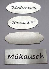 Edelstahl Türschild, Namensschild  XL, selbstklebend, Klingelschild, groß