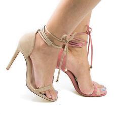 f3772c1dd Hilton Open Toe Leg Wrap Stiletto High Heel Dress Sandals