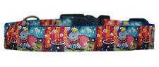 bleu Dumbo MOYEN LARGE COLLIER POUR CHIEN CHIOT 2.5cm rembourré HANDMADE tissu