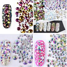 800Pcs Strass Cristal Résine Bijoux Ongle Décoration 3D Tips Nail Art Manucure