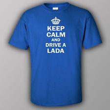 Funne joke T-shirt KEEP CALM AND DRIVE A LADA vaz Niva Russian car kamaz