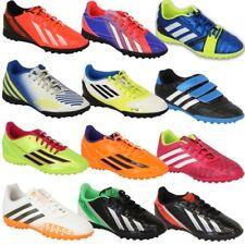 Garçons Adidas Tennis Enfants Football Astro Turf Chaussures à Lacets Néon