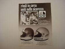 advertising Pubblicità 1976 CASCO AGV e GIACOMO AGOSTINI/JOHNNY CECOTTO