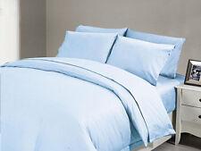 1000 TC Egyptiancotton Uk Bedding Duvet/sheets King/SuperKing/Double Blue Solid