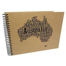 Personalised A3/A4/A5/ Travel Holiday Scrapbook, Photo Album, EU, USA, Australia