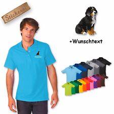 Polo Shirt Coton Brodé Broderie Bouvier Bernois 2 + Texte Désiré