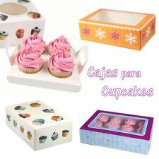 Caja para Cupcakes decoradas Funcakes Reposteria magdalenas