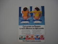 advertising Pubblicità 1981 PANNOLINI PAMPERS