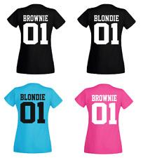 T-Shirt BLONDIE 01 /  BROWNIE 01 - Partner  Freundinnen - Beste Freunde - Sister