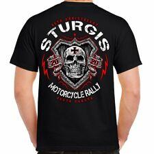 2020 Sturgis Motorcycle Rally Skull Shield T-Shirt