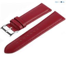 Lederarmband 7019631 LLB40 Rot Glattleder Uhrenarmband Armband Feines Leder