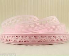 Pink Heart,Flower,Swirl Perforated Ribbon 22mm - 1M,2M,3M,4M or 5M - U Choose