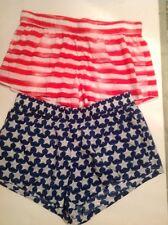 Victoria's Secret Mélange de coton Plage Shorts salon drapeau américain