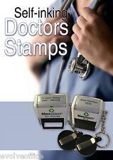 NHS Doctor Nurses Rubber Stamp Self Inking Pocket Size Quality Item Custom Made