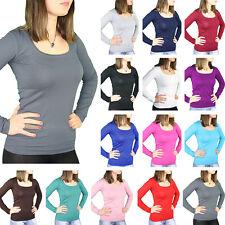 BALI Lingerie - Damen Langarm Shirt Deep U-Neck T-Shirt Top Body