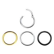 Seamless Hinged Segment Ring 16G & 14G Nose, Lips, Nipple, Septum Ring