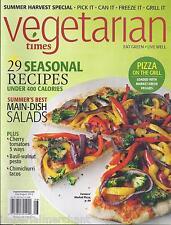 Vegetarian Times magazine Seasonal recipes Summer main dish salads Grill pizza