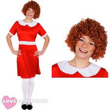 Señoras Little Orphan Disfraz Con Peluca rizados carácter musical de la película