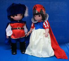 "Snow White & Prince Seven Dwarfs 16"" Doll Set Disney Precious Moments Signed"