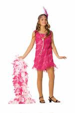 Hot Pink Girls Flapper Halloween Costume