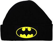 BAT BABY BATMAN Beanie Cappello / Berretto Nero NEONATO ad 12M Supereroe ACCE REGALO BOY GIRL